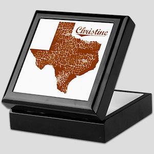 Christine, Texas (Search Any City!) Keepsake Box