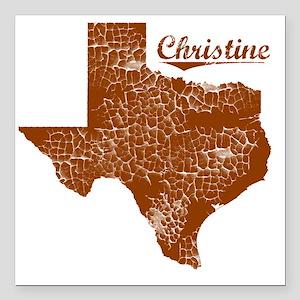 "Christine, Texas (Search Square Car Magnet 3"" x 3"""