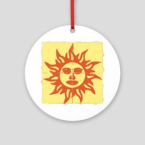 Orange Sunshine Tab Ornament (Round)