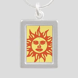 Orange Sunshine Tab Necklaces