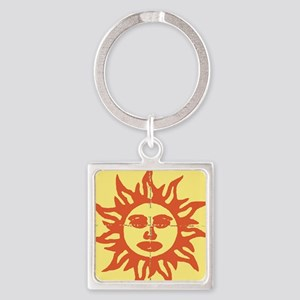 Orange Sunshine Tab Keychains