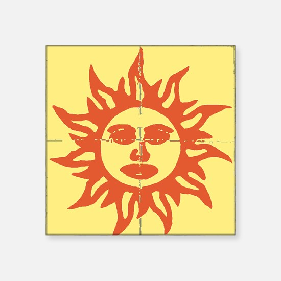 Orange Sunshine Tab Sticker