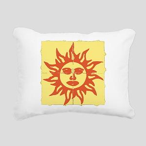 Orange Sunshine Tab Rectangular Canvas Pillow