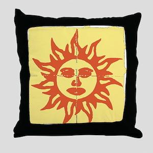 Orange Sunshine Tab Throw Pillow