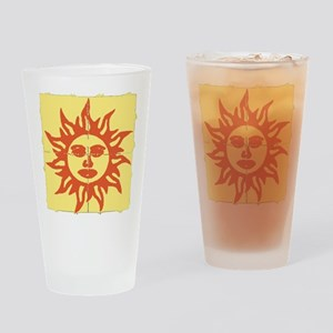 Orange Sunshine Tab Drinking Glass