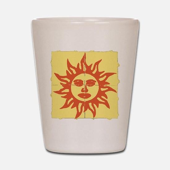 Orange Sunshine Tab Shot Glass
