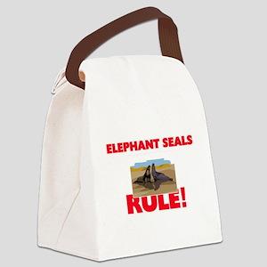Elephant Seals Rule! Canvas Lunch Bag