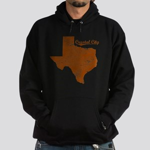Crystal City, Texas (Search Any City Hoodie (dark)