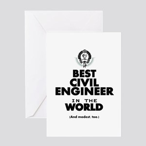 The Best In World Civil Engineer Greeting Ca