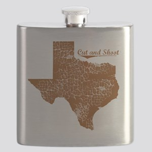 Cut and Shoot, Texas. Vintage Flask