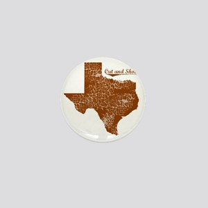 Cut and Shoot, Texas. Vintage Mini Button
