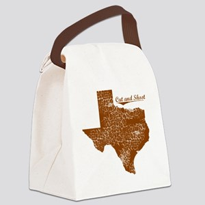 Cut and Shoot, Texas. Vintage Canvas Lunch Bag