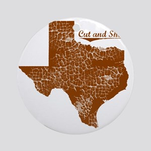 Cut and Shoot, Texas. Vintage Round Ornament