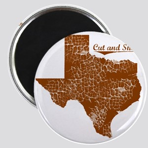 Cut and Shoot, Texas. Vintage Magnet