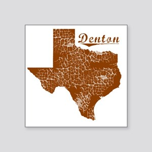 "Denton, Texas (Search Any C Square Sticker 3"" x 3"""