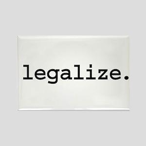 legalize. Rectangle Magnet