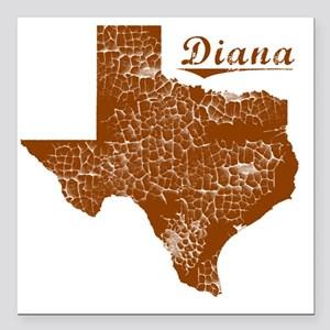 "Diana, Texas (Search Any Square Car Magnet 3"" x 3"""