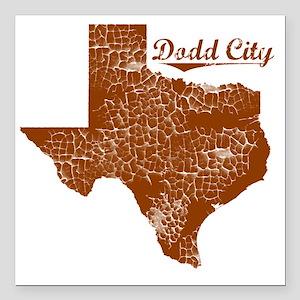 "Dodd City, Texas (Search Square Car Magnet 3"" x 3"""