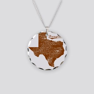 Douglass, Texas (Search Any  Necklace Circle Charm