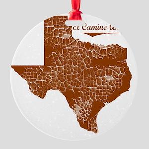 El Camino Angosto, Texas. Vintage Round Ornament