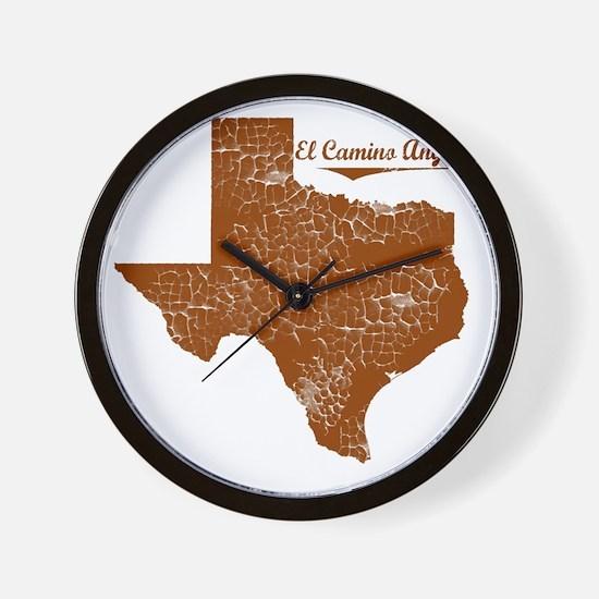 El Camino Angosto, Texas. Vintage Wall Clock