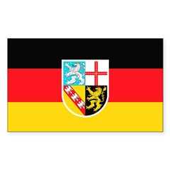 Saarland Rectangle Decal