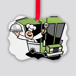 I Love Street Food Picture Ornament