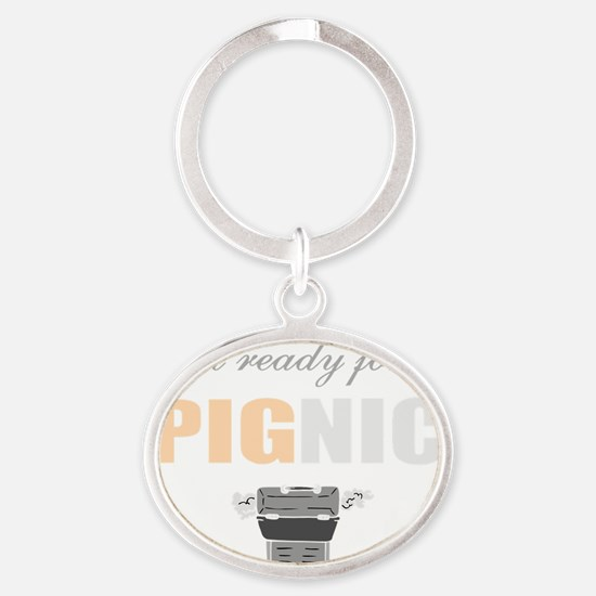 Crazy BBQ Oval Keychain