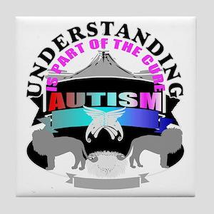 Autism understanding part of cure Tile Coaster