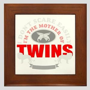 Brave mother of twins Framed Tile