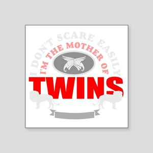 """Brave mother of twins Square Sticker 3"""" x 3"""""""