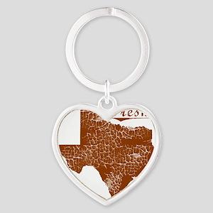 Fresno, Texas (Search Any City!) Heart Keychain