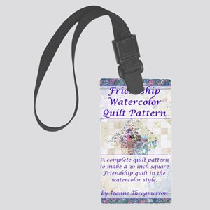 Friendship Water Color Quilt Pat Large Luggage Tag