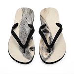 Saluki (Fawn) Flip Flops