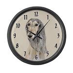 Saluki (Fawn) Large Wall Clock