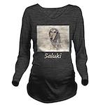 Saluki (Fawn) Long Sleeve Maternity T-Shirt