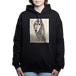 Saluki (Fawn) Women's Hooded Sweatshirt