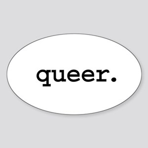 queer. Oval Sticker
