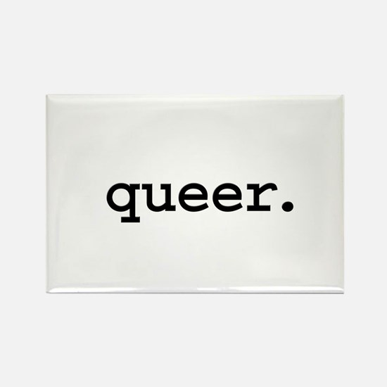 queer. Rectangle Magnet