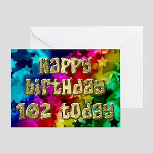 102nd Bright stars birthday card Greeting Cards