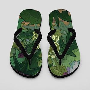 Flower Forest Flip Flops