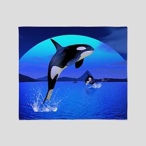 orca_calendar_print Throw Blanket