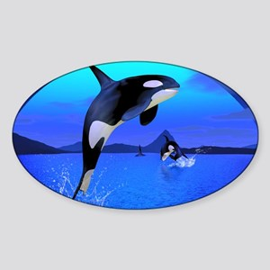 orca_calendar_print Sticker (Oval)