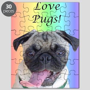 I Love Pugs! Rainbow Puzzle