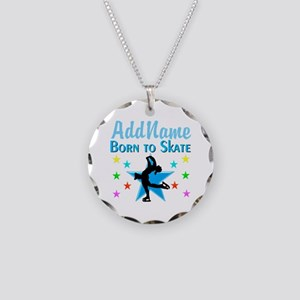 LIVE TO SKATE Necklace Circle Charm