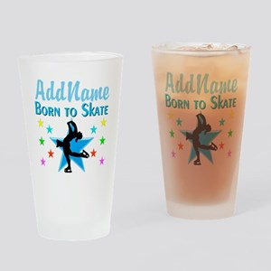 LIVE TO SKATE Drinking Glass