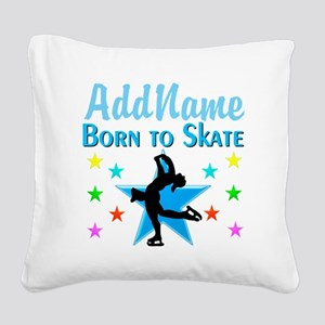 LIVE TO SKATE Square Canvas Pillow