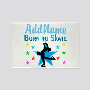 LIVE TO SKATE Rectangle Magnet