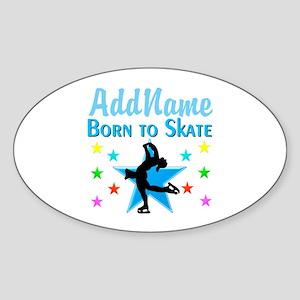 LIVE TO SKATE Sticker (Oval)
