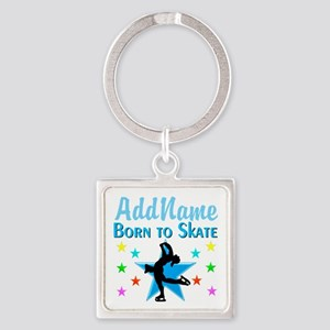 LIVE TO SKATE Square Keychain